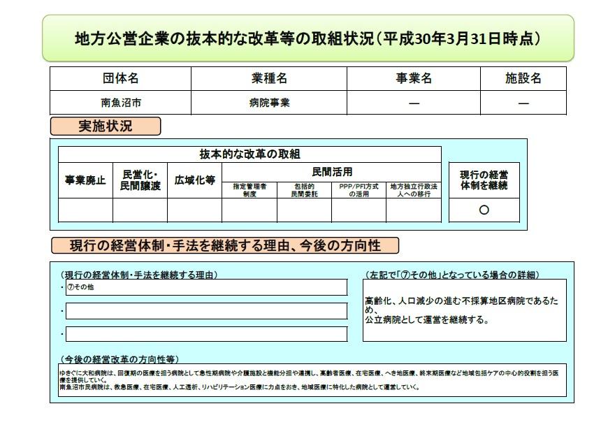 地方公営企業抜本改革等の取組に...